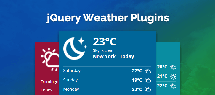 jQuery Weather Plugins