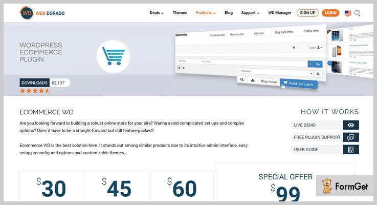 WebDorado WordPress eShop Plugins