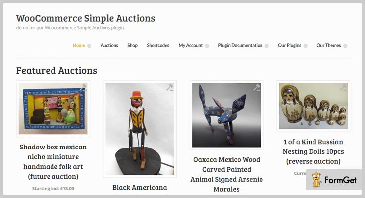WooCommerce Simple Auction WordPress Plugin