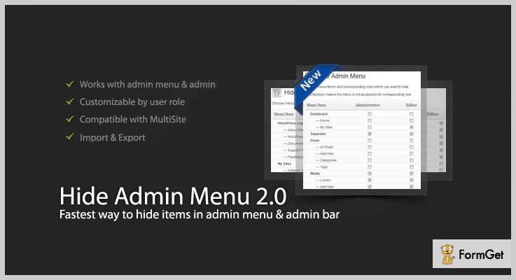 Hide Menu WordPress Admin Plugin