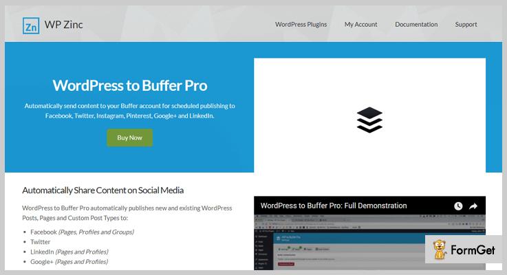 WordPress to Buffer Pro Marketing WordPress Plugin