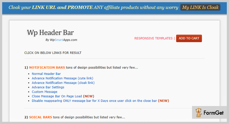 Wp Header Bar Notification WordPress Plugin