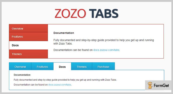 Zozo Tabs jQuery Tabs Plugins