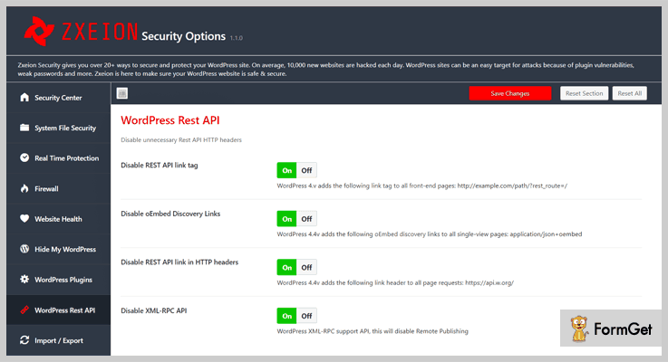 Zxeion WordPress Firewall Plugin