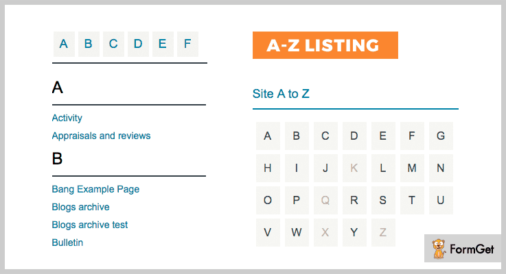 A-Z Listing WordPress Alphabetical List Plugin