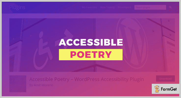 Accessible Poetry WordPress Accessibility Plugin
