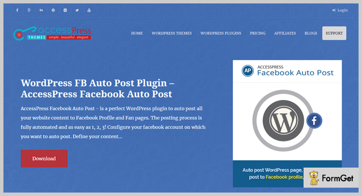 AccessPress Facebook Auto Post WordPress Plugin