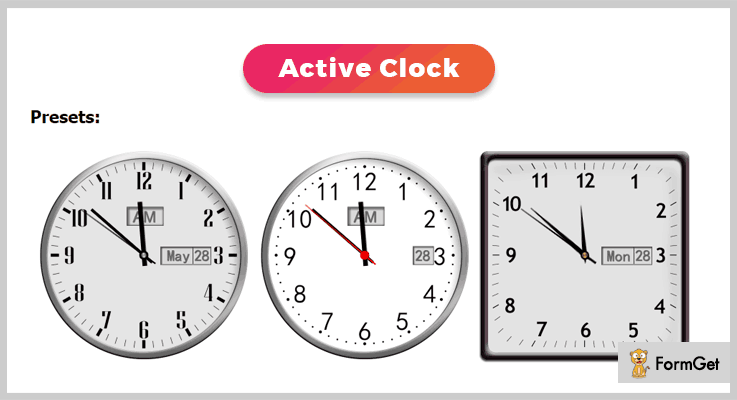 Active Clock jQuery Clock Plugins