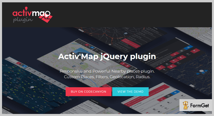 Activ'Map Nearby Places jQuery Store Locator Plugins