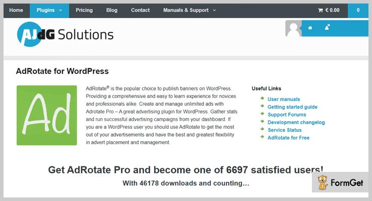 Ad Rotate WordPress Banner Plugin