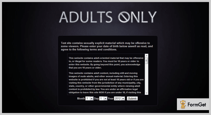Adults Only Age Verification System Age Verification WordPress Plugin