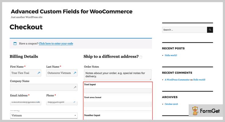 Advanced Custom Field For WooCommerce Custom Field WordPress Plugin