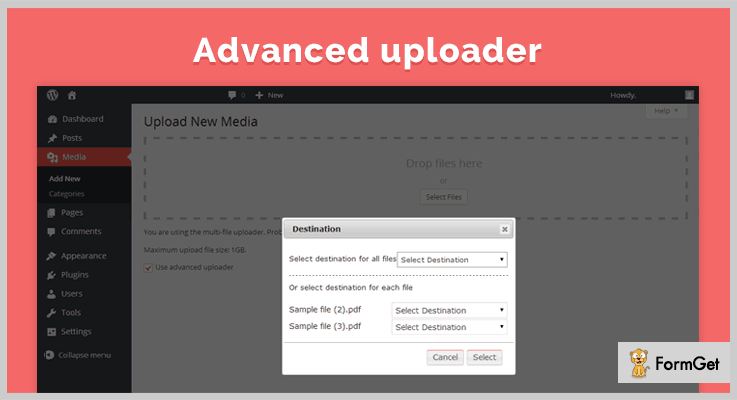 Advanced Uploader WordPress Media Upload Plugin