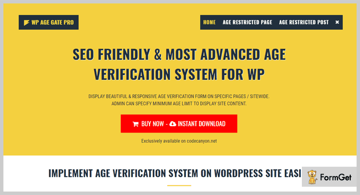 Age Verification System Age Verification WordPress Plugin