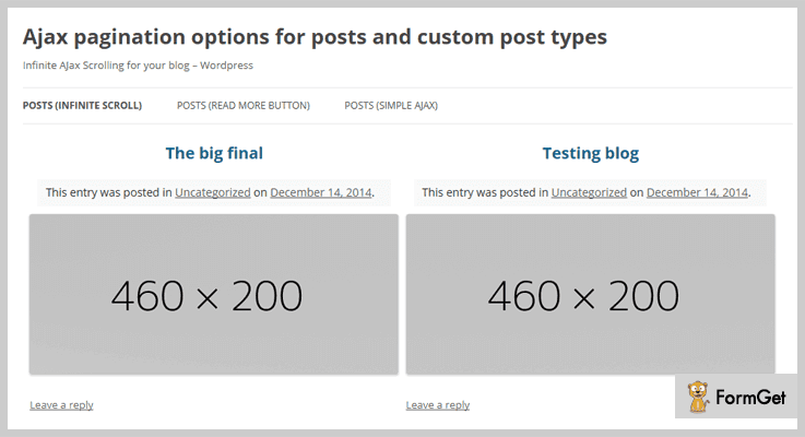 Ajax Pagination WordPress Plugin
