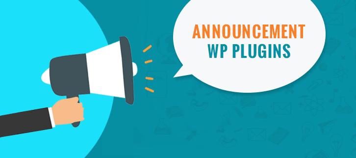 Announcement WordPress Plugins