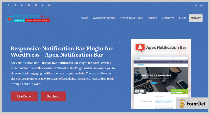 Apex Notification Bar WordPress Plugin
