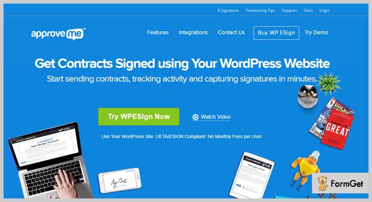 ApproveMeWordPress E-Signature Plugins