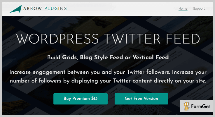 Arrow WordPress Twitter Feed Plugins