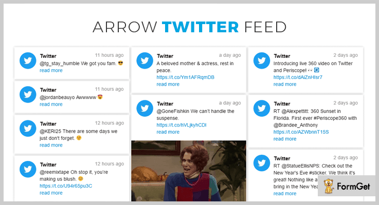 Arrow Twitter Feed WordPress Twitter Feed Plugins
