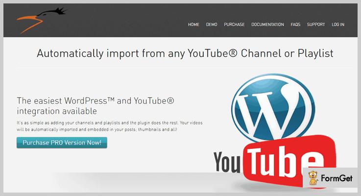 Automatic YouTube Videos WordPress Video Post Plugin