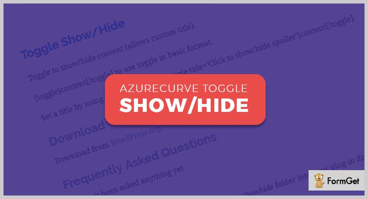Azurecurve Toggle Show Hide WordPress Plugin