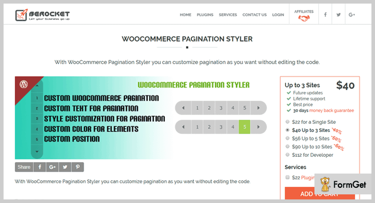 WooCommerce Pagination Styler Pagination WordPress Plugin
