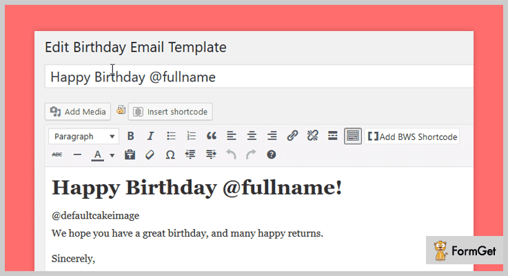 Birthday Emails WordPress Birthday Reminder Plugins