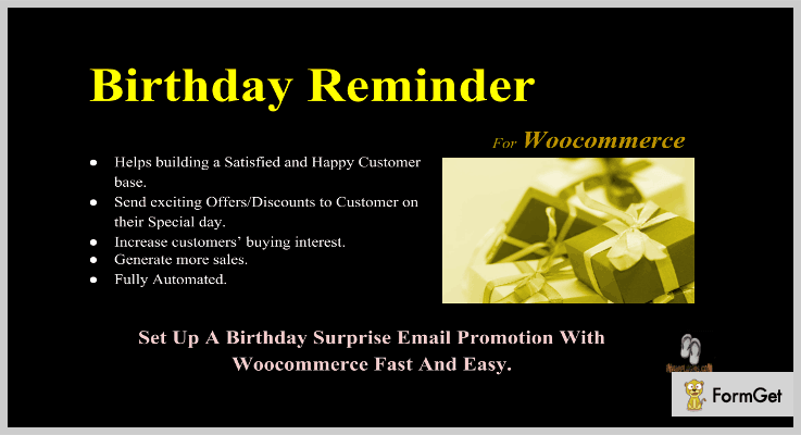 Birthday Reminder For Woocommerce WordPress Birthday Reminder Plugins