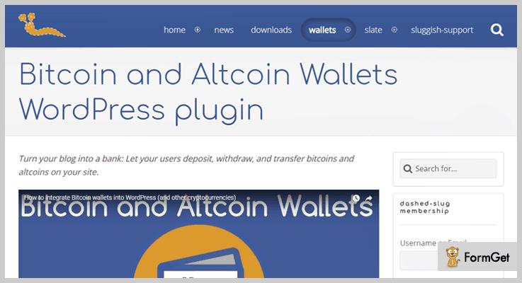 Bitcoin and Altcoin Wallets Bitcoin WordPress Plugin