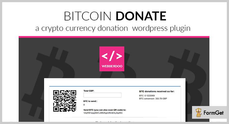 Bitcoin Donate WordPress Fundraising Plugins