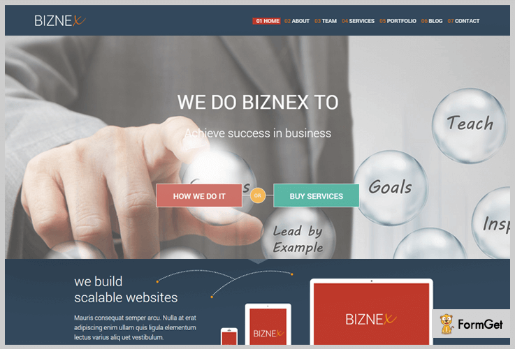 Biznex Bootstrap WordPress Theme