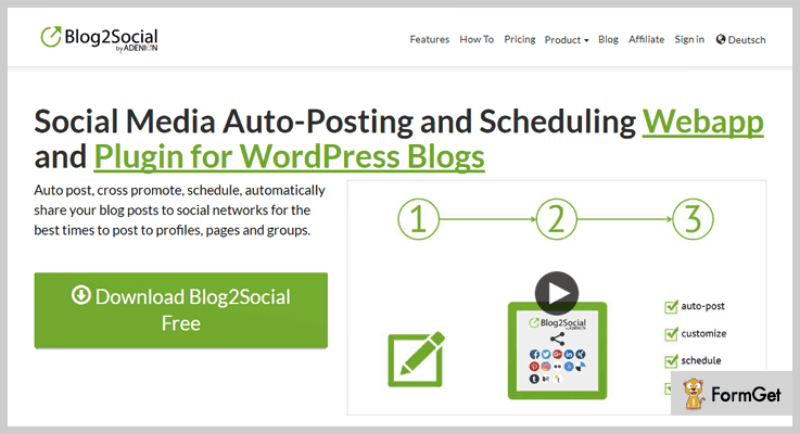 Blog2Social WordPress Post Share Plugin