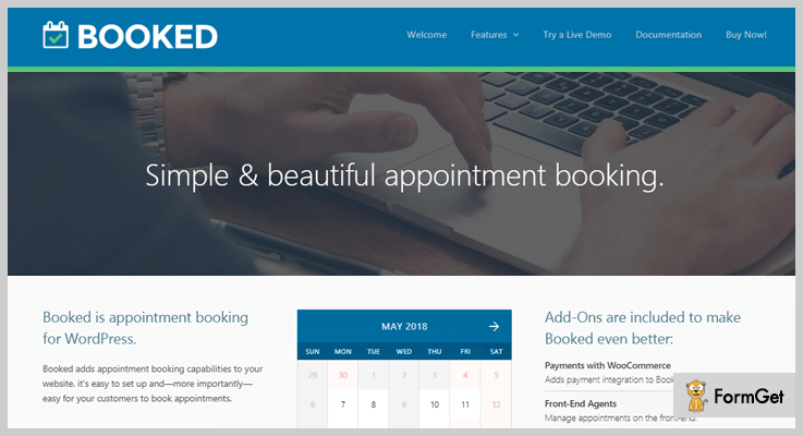 Booked Appointment WordPress Plugin