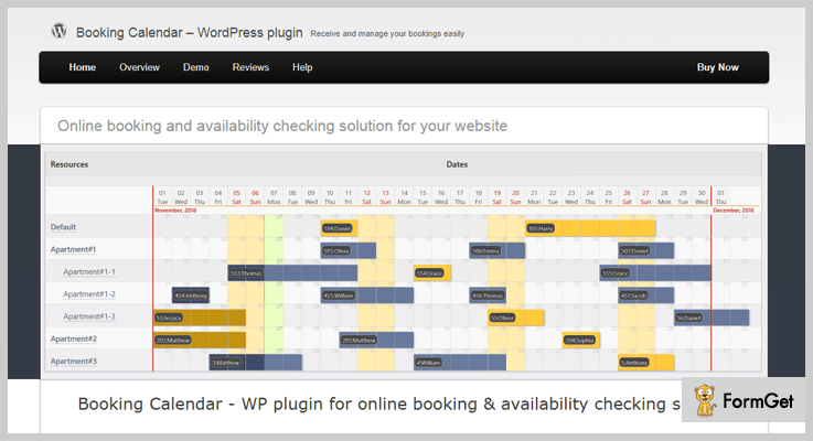 Booking Calendar Appointment WordPress Plugin