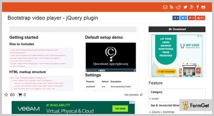 5+ jQuery Video Player Plugins (Free and Paid) | FormGet
