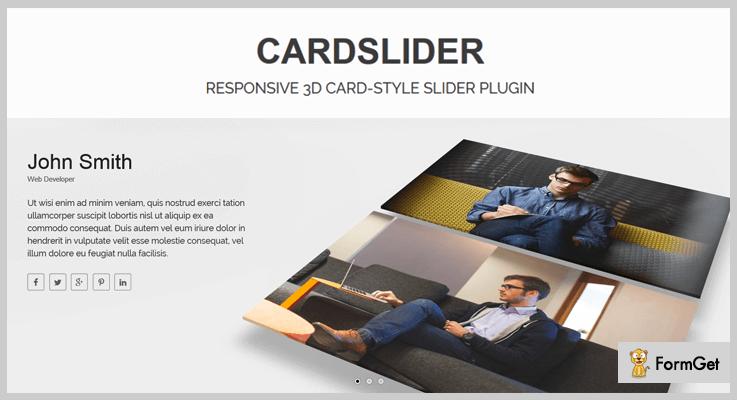 CardSlider 3D Slider jQuery Plugin