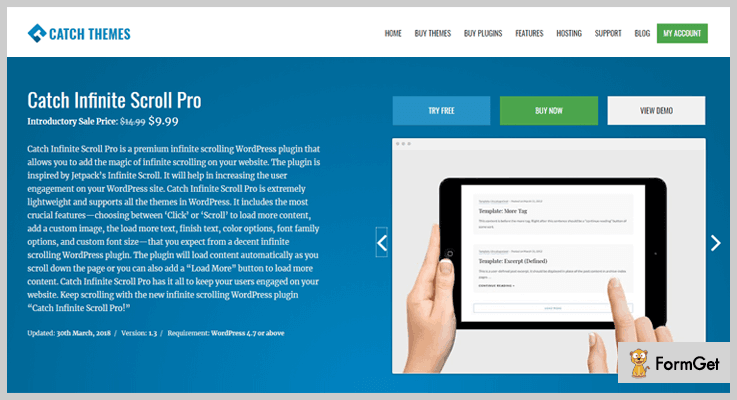 Catch Infinite Scroll Pro WordPress Infinite Scroll Plugins