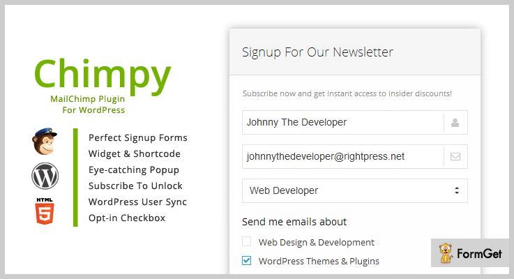 Chimpy Mailing List WordPress Plugin