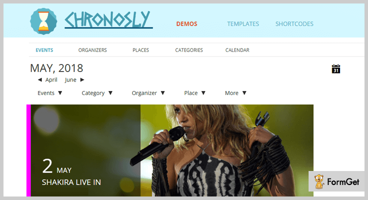 Chronosly Event Calendar WordPress Plugins