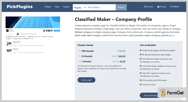 Classified Maker Company Profile Classifieds WordPress Plugins