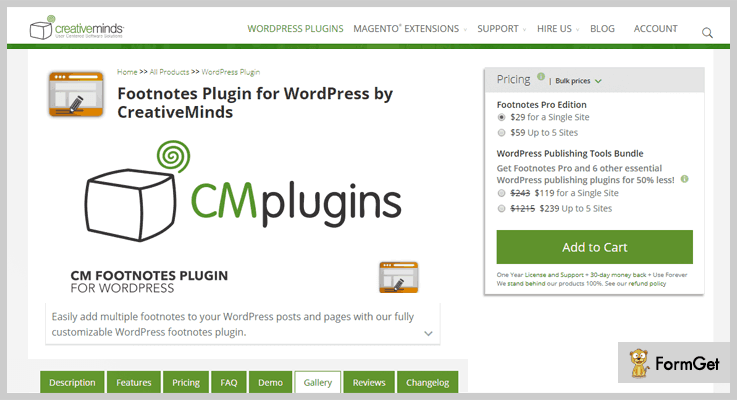 CM Footnotes WordPress Footnote Plugins