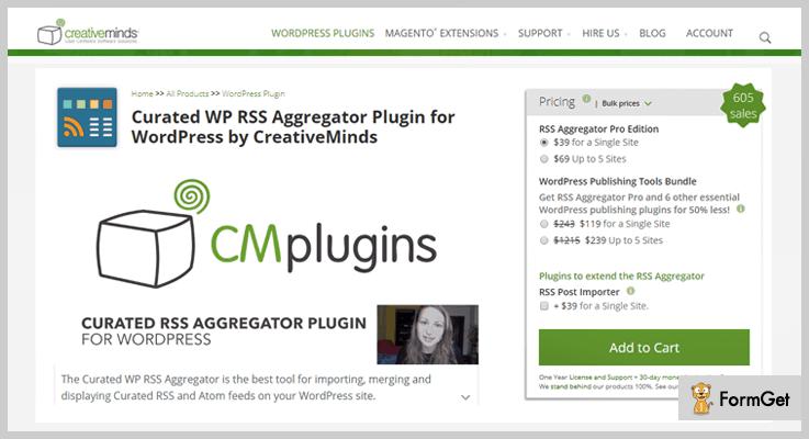 Curated WP RSS Aggregator WordPress Aggregator Plugins