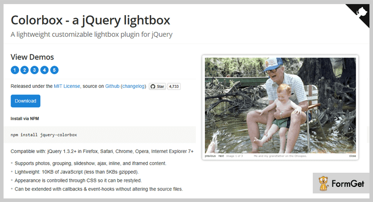 Colorbox jQuery Lightbox Plugins