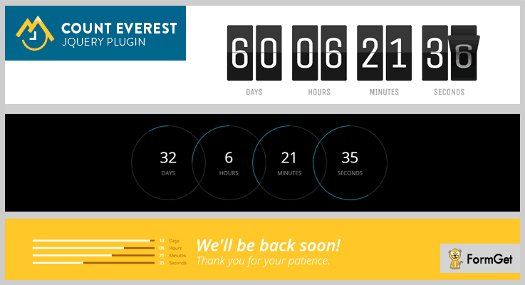 Count Everest Countdown jQuery Countdown Plugin