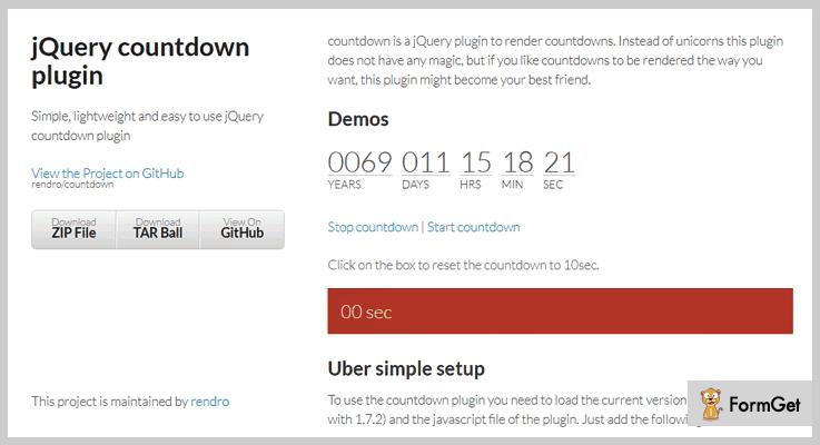 Countdown jQuery Countdown Plugin