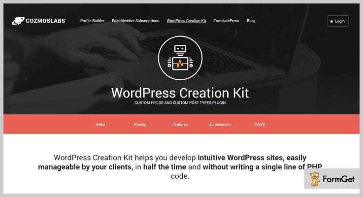 Custom Fields And Custom Post Types Plugin Custom Field WordPress Plugin