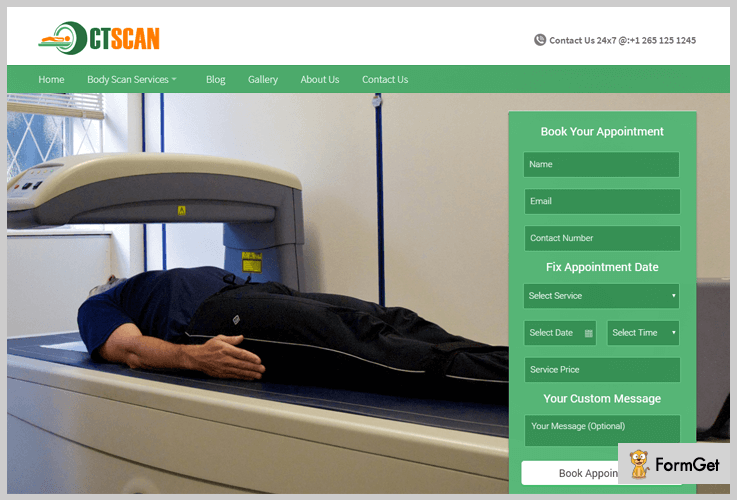 CT Scan Hospital WordPress Theme