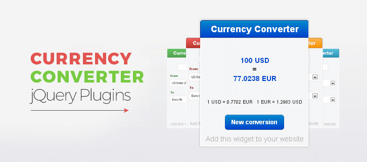 Currency Converter jQuery Plugins
