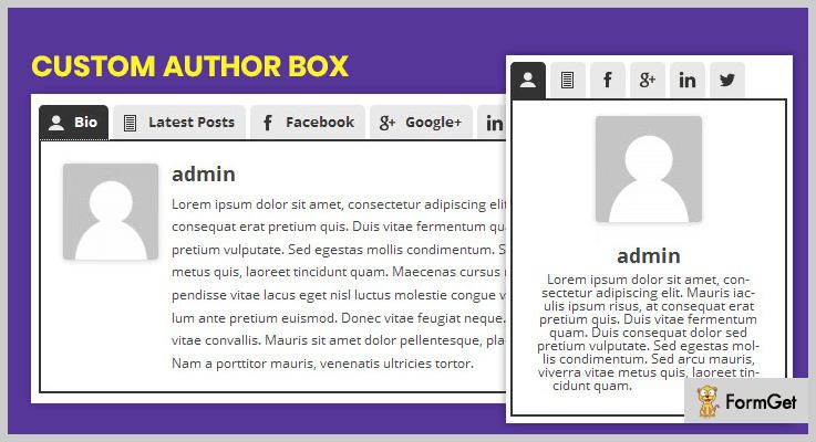 Custom Author Box Multiple Authors WordPress Plugin